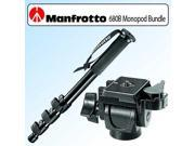 Manfrotto 680B Monopod Bundle With Manfrotto 234RC Top-Swivel 90 Degree Tilt Head with RC Plate (Was 3229)