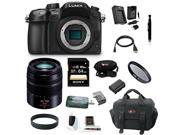 Panasonic LUMIX DMC-GH4KBODY 16.05MP Digital Single Lens Mirrorless Camera with Panasonic H-FS45150K Lumix G Series Lens (Black) plus 64GB Deluxe Accessory Bundle