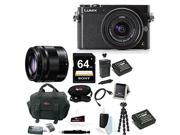 Panasonic Lumix DMC-GM5 Compact System Camera + Panasonic 35-100mm f/4-5.6 Interchangeable Zoom Lens + Sony SF64UY2TQ 64GB SDXC UHS-1 Memory Card with Deluxe Accessory Bundle