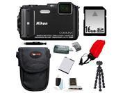 NIKON AW130: Nikon COOLPIX AW130 Camera (Black) with 16GB Accessory Kit