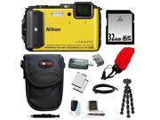 NIKON AW130: Nikon COOLPIX AW130 (Yellow) with 32GB Deluxe Accessory Kit