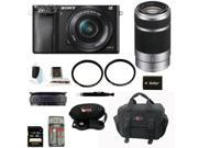 Sony a6000: Sony Alpha A6000 Mirrorless Digital Camera (Black) with 16-50mm and 55-210mm Lenses and 32GB SDHC Accessory Bundle