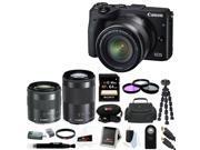 Canon EOS M3 Digital Camera with EF-M 18-55mm & 55-200mm Lens Bundle