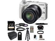 Canon EOS M3 Mirrorless Digital Camera (White) with 18-55mm Lens Bundle