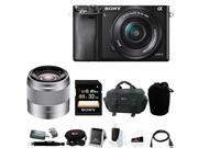 Sony a6000: Sony Alpha a6000 24.3 Megapixel Mirrorless Digital Camera with Sony 50mm Lens and Sony 32GB SDHC Accessory Bundle (Black)
