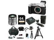 Panasonic DMC-GX8SBODY LUMIX GX8 Interchangeable Lens (Body Only Silver) + Panasonic LUMIX G VARIO 14-140mm f/3.5-5.6 Lens (Silver) + Focus Camera Digital SLR Camera Bag Bundle + Deluxe Accessory Kit