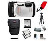 Olympus TG-860 Tough Waterproof Digital Camera with 3-Inch LCD (White) and 32GB Deluxe Accessory Kit