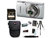 Canon PowerShot ELPH 180 20 MP Digital Camera (Silver) w/ 16GB Accessory Bundle