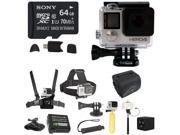 GoPro HERO4 Black Edition Camera With MeFOTO Sunshine Camera Flash, 64GB Micro  Card And Complete Deluxe Accessory Bundle