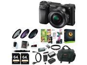 Sony Alpha a6000 Mirrorless Camera w 16 50mm Lens Two 64GB SD Card Bundle
