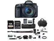 Canon EOS 7D Mark II 18-135 Wi-Fi Adapter Kit + Canon BG-E16 Grip & 128GB Bundle