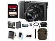 Panasonic Lumix DMC-ZS100 Digital Camera (Black) w/ ZS60 & ZS100 Travel Bundle & 64GB Accessory Bundle 9SIV0745N28306