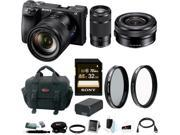 Sony a6500 Mirrorless Camera w/ 55-210mm Lens + 32GB SDHC Accessory Bundle