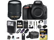 Nikon D5600 DSLR Camera with 18 140mm Lens Nikon Case 64GB Card and Bundle