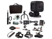 GoPro HERO4 Session, Action Camera Tripod Adapter, Vivitar VIV-TR-420-BLK Selfie with Wireless Shutter Release (Black) Bundle 9SIV0745N29357