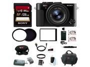 Sony RX1R II Compact Digital Camera w/ 128GB SD Card & Focus Accessory Bundle