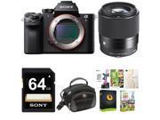 Sony Alpha a7SII Mirrorless Digital Camera (Body Only) w/ Sigma 30mm f/1.4 Lens