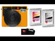 Leica Sofort Instant Camera (Orange) w/2 Packs Sofort Film (1 Color, 1 B&W)