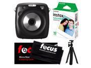 Fujifilm instax SQUARE SQ10 Hybrid Instant Camera w/Instant Film & Tripod Kit