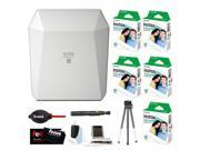 Fujifilm Instax Share SP-3 Smartphone Printer (White)  w/ SQ10 Film (50 Sheets) + Focus Accessory Kit + Tripod