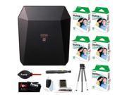 Fujifilm Instax SP-3 Printer (Black) w/ SQ10 Film (50 Exposures) & Accessory Kit