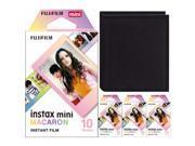Fujifilm Instax Mini Macaron Frame Instant Film (40 Sheets) & Photo Album