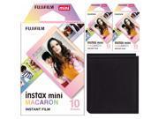 Fujifilm Instax Mini Macaron Frame Instant Film (30 Sheets) with Photo Album