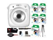 Fujifilm Instax Share SP-3 Smartphone Printer (Black)  w/SQ10 Film Kit