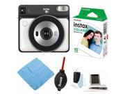 Fujifilm instax Square SQ6 Instant Camera (Pearl White) with Film Bundle