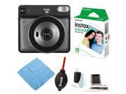 Fujifilm instax Square SQ6 Instant Camera (Graphite Gray) with Film Bundle