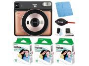 Fujifilm instax Square SQ6 Instant Camera (Blush Gold) with Film Bundle (3-Pack)