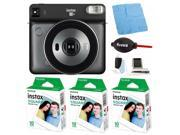 Fujifilm instax Square SQ6 Instant Camera (Gray) with Film Bundle (3-Pack)