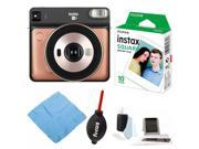 Fujifilm instax Square SQ6 Instant Camera (Blush Gold) with Instax Film Bundle