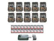 (10) Browning Recon Force 4K Trail Cameras with 20 Memory Cards and USB Reader thumbnail
