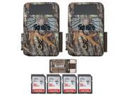 (2) Browning Recon Force 4K Trail Cameras with 4 Memory Cards and USB Reader thumbnail