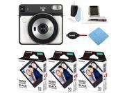 Fujifilm Instax Square SQ6 Instant Camera (Pearl White) and Film (3-Pack) Bundle