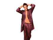 Lovely Day Lingerie Men's Robe and Long Pant Set