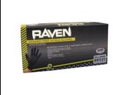 Raven Nitrile Medium Black Powder-free Gloves