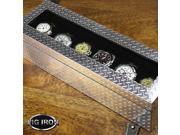 Pig Iron 6-pc Watch Box - Diamondplate (MSRP:$135)