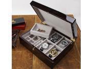 Biltmore Ultimate Mens Valet & 4-pc Watch Box (MSRP:$156)