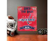 Washington Capitals Vintage Metal Sign Team: Washington Capitals Type: Home and Living Sport: NHL Gender: Unisex Adults