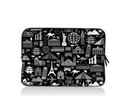 """World Civilization 15"""" 15.4"""" 15.6"""" inch Notebook Laptop Case Sleeve Carrying bag for Apple MacBook Pro 15 15.4 /Dell Inspiron 15R Alienware M15X /ASUS A55 K55 N56/Sony E15 S15 EL2/ThinkPad E530"""