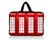 "Telephone booth 17.1"" 17.3"" inch Laptop Bag Sleeve Case with Hidden Handle for Apple MacBook pro 17/Dell Inspiron 17R Alienware M17x/Samsung 700 Sony Vaio E 17/HP dv7 ENVY 17/Asus G74 K73 N75 A93"