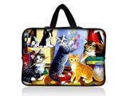 "Many Cats 11.6"" 12.1"" inch Notebook Laptop Case Sleeve Carrying bag with Hide Handle for Google 11.6"" Chromebook/DELL E6230 XT2 XPS Duo/Samsung 350U 400B/ASUS B23/HP 4230S/TOSHIBA U920T"