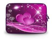 """17.1"""" 17.3"""" inch Laptop Bag Sleeve Case for Apple MacBook pro 17/Dell Inspiron 17R Alienware M17x/Samsung 700 Sony Vaio E 17/HP dv7 ENVY 17/Asus G74 K73 N75 A93 Pink two heart"""