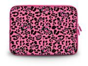 """CorlfulCase® 14"""" 14.4"""" inch Notebook Laptop Case Sleeve Carrying Bag for Lenovo Y480/ASUS A43 N46 X84/Samsung 530 Q470/DELL Inspiron 14R Vostro 1450/HP DV4/Thinkpad E420 Pink Leopard bow"""