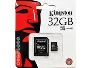 Kingston 32GB 32G MicroSDHC Micro SD HC SDHC Memory Card UHS-1 Class 10 C10 SDC10/32GB W/ Adapter + Retail Packing HK081