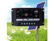 XCSOURCE® USB PWM 12V/24V 20A Solar Panel Battery Regulator Charge Controller DC12V LD358
