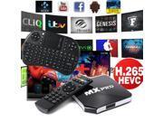 Xcsource® Android Quad Core MX Pro TV Box XBMC KODI Fully Loaded + Wireless Keyboard AH014