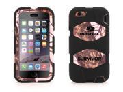 Griffin Pink Breakup/Black Survivor All-Terrain Case in Mossy Oak® Camo for iPhone 6/6s   Proven protection with Rotating Belt Clip
